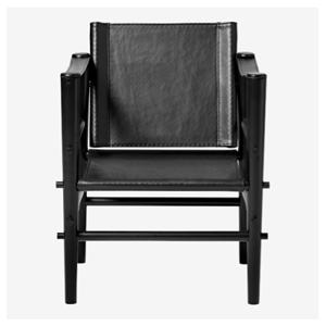 Køb Cinas Noble Safari stol sort læder med sort bambusstel