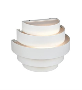 Etage udendørslampe i hvid fra Markslöjd. Kvik levering