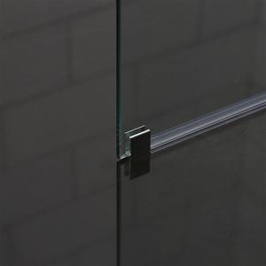 brusevæg 70 cm Bathlife Mångsidig Rak brusevæg 70 cm i klart glas brusevæg 70 cm