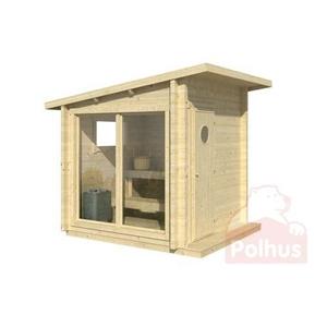 Polhus Saunahytte Olli 4 M2 Udendørs Sauna Fra Polhus
